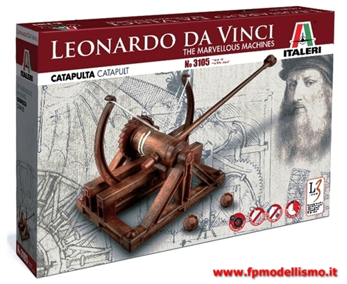 Collezionismo catapulta di leonardo da vinci italeri for Catapulta di leonardo da vinci