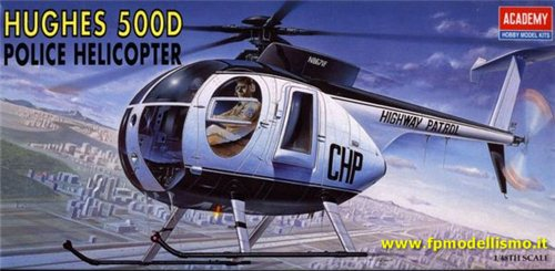 HUGHES 500D POLICE HELL 1:48 ACADEMY 1643 * Euro 10,30 (Iva Incl.)
