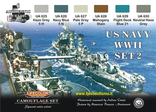 US Navy WWII Set 2 CS25 Lifecolor * Euro 18,50 (Iva Incl.) Art. Temporaneamente Non Disponibile