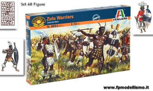 Guerre Coloniali: ZULU WARRIORS in scala 1:72 Italeri 6051 * EURO 9,80