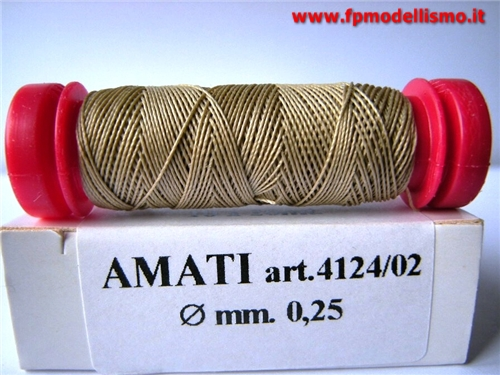 Filo per Manovre Velieri REFE 0,25mm mt20 AMATI 4124/02  * Euro 1,20 (Iva Incl.) Disponibilit� 8