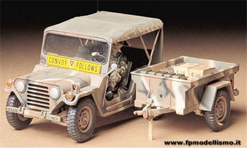 U.S. M151A2 Ford MUTT with M416 Trailer 1:35 Tamiya 35130 * EURO 14,90 in Kit ** EURO 34,90 Costruito (Iva Incl.)