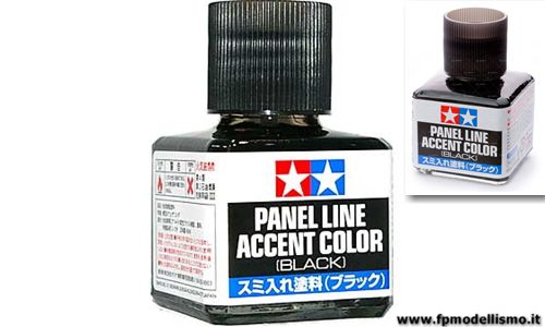 Panel Line Accent Color Black - Nero Tamiya 87131 * EURO 6,30 (Iva Incl.) Disponibilit� 1
