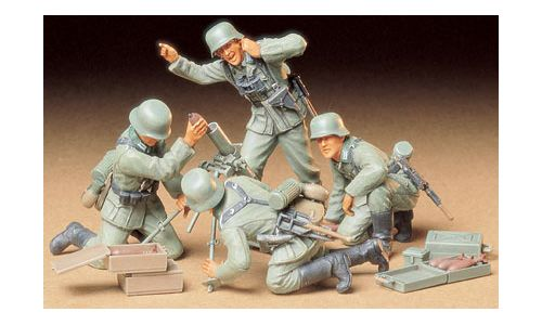 German Infantry Mortar Team in scala 1:35 TAMIYA 35193 * EURO 10,00 (Iva Incl.)