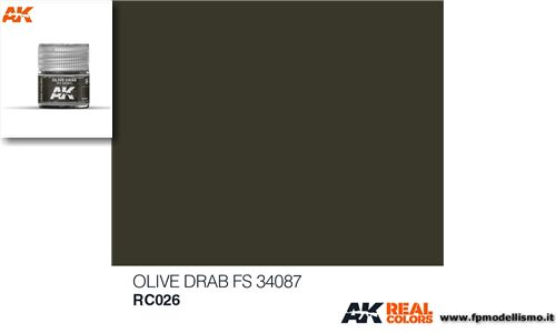 Colore Olive Drab FS 34087 RC026 AK 10ml * Euro 2,90 (iva incl.)