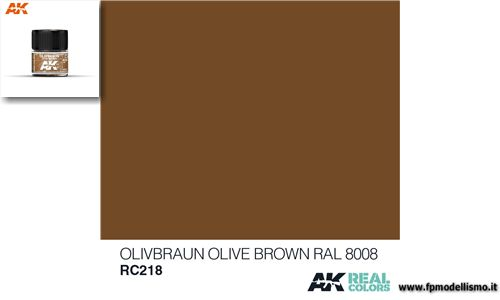 Colore Olive Brown RAL 8008 RC218 AK 10ml * Euro 2,90 (iva incl.)