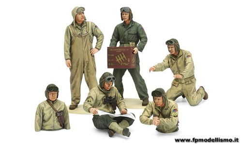 U.S. Tank Crew Set European Theater 1:35 Tamiya 35347 * Euro 17,90 in kit ** Euro 37,90 Costruito (Iva Incl.)