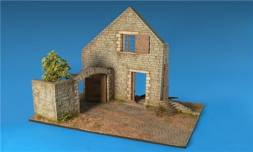 Village Diorama Base in scala 1/35 MiniArt 36015 * EURO 26,60 in Kit * Euro 66,60 Costruito (Iva Incl.)