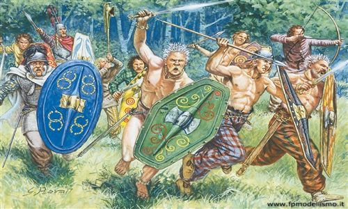 Gauls Warriors (1st-2nd Century b.c.) in scala 1/72 IT6022 * EURO 10,00 in Kit * Euro 30,00 Costruiti (Iva Incl.)