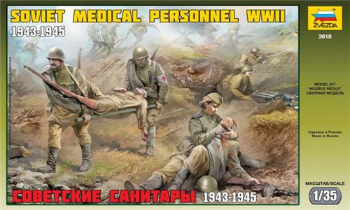 Soviet Medical Personnel (1943-1945) in scala 1/35 Zvezda 3618 * EURO 11,50 in Kit ** Euro 31,50 Costruito (Iva Incl.)