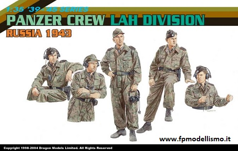 Panzer Crew Lah Division Russia 1943 in scala Dragon 6214 * * Euro 15,50 in kit ** Euro 35,50 Costruito (Iva Inc.)