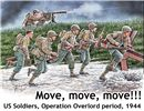 D-DAY Normandia Move, move, move!! US Soldiers, Operation Overlord, period 1944 in scala 1:35 MB35130 * EURO 19,40 (Iva Incl.)