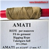 Filo per Manovre Velieri REFE 0,75mm mt20 AMATI 4124/07 * Euro 1,80 (Iva Incl.) Disponibilit� 10