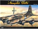 B-17F MEMPHIS BELL 1:72 Academy 12495 * EURO 32,90 in Kit ** Euro 92,90 Costruito (Iva Incl.)