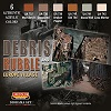 Debris & Rubble Set (This set contains 6 acrylic colors) CS31 Lifecolor * EURO 18,20 (Iva Incl.)