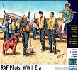 RAF Pilots, WW II Era Scala 1/32 MB3206 * EURO 14,40 in Kit * Euro 34,40 Costruiti (Iva Incl.)