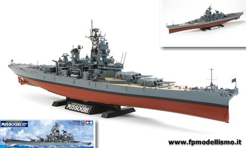USS Battleship BB-63 MISSOURI (1991) Scala 1:350 Tamiya 78029 * EURO 99,00 in Kit ** Euro 249,00 Costruita (Iva Incl.) Art. Temporaneamente Non Disponibile