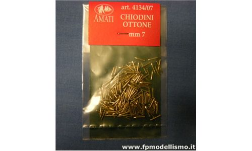 Chiodini in Ottone da mm.7 AMATI B4134/07 * Euro 1,20 (Iva Incl.) Disponibilit� 4