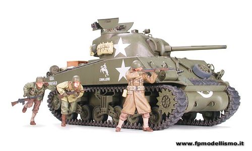 Carro armato US Medium Tank M4A3 Sherman 75mm Gun Late Production in scala 1/35 Tamiya 35250 EURO 33,50 in Kit ** Euro 73,50 Costruito (Iva Incl.)
