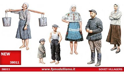 Soviet Villagers in scala 1/35 MiniArt 38011 * EURO 13,50 in Kit * Euro 33,50 Costruiti (Iva Incl.)