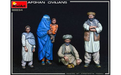 NEW: Afghan Civilians in scala 1/35 MiniArt 38034 * * EURO 13,60 in Kit ** EURO 33,60 Costruito (Iva Incl.)