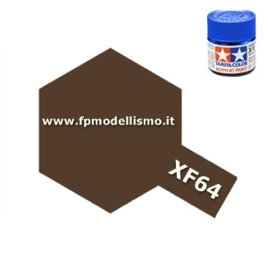 Colore Red Brown XF64 Tamiya 10 ml * EURO 2,60 Iva Incl.(Disponibilità 6)